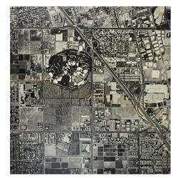 Oversize Disneyland Aerial Photograph.