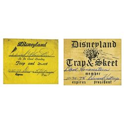 Pair of Cast Member Trap & Skeet Membership Cards.