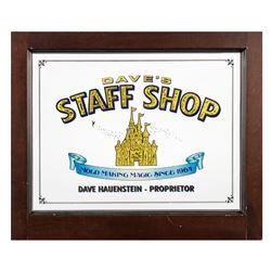 """Dave's Staff Shop"" Custom Disneyland Window."