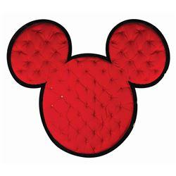 Mickey Mouse Shaped Disney Hotel Headboard.
