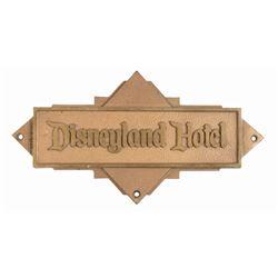 Disneyland Hotel Bronze Plaque.