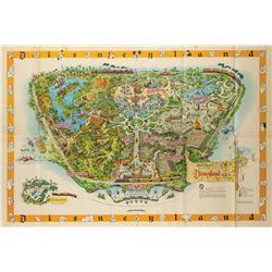 Disneyland Souvenir Map 1958-A.