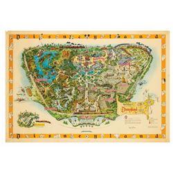 Disneyland Souvenir Map 1958-B Signed by Sam McKim.