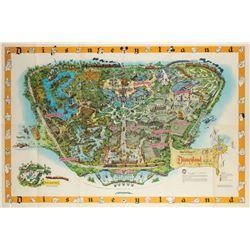 Disneyland Souvenir Map 1958-C.
