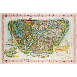 Disneyland Souvenir Map 1961.