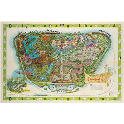 Disneyland Souvenir Map 1964-A.