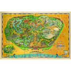 Disneyland Souvenir Map 1966.