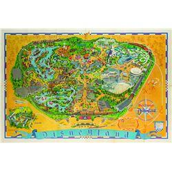 Disneyland Souvenir Map 1968.