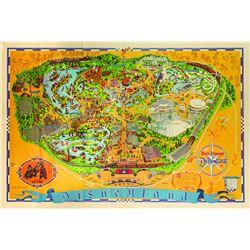 Disneyland Souvenir Map 1972.