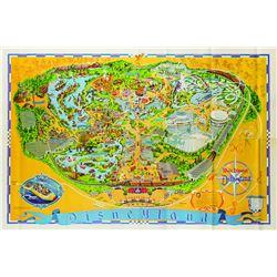 Disneyland Souvenir Map 1976.