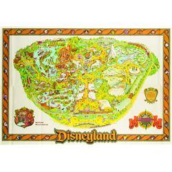 Disneyland Souvenir Map 1979.