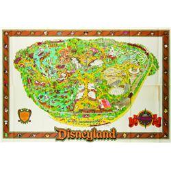 Disneyland Souvenir Map 1984.