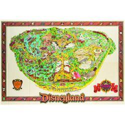 Disneyland Souvenir Map 1987.