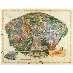 Disneyland Souvenir 1995 Corrected Map.