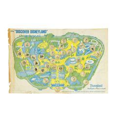 """Discover Disneyland"" Coca-Cola Bottle Cap Map."