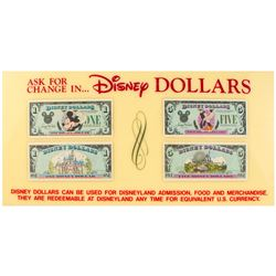 """Disney Dollars"" Disneyland Ticket Booth Sign."