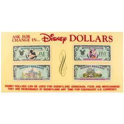 Disney Dollars  Disneyland Ticket Booth Sign.