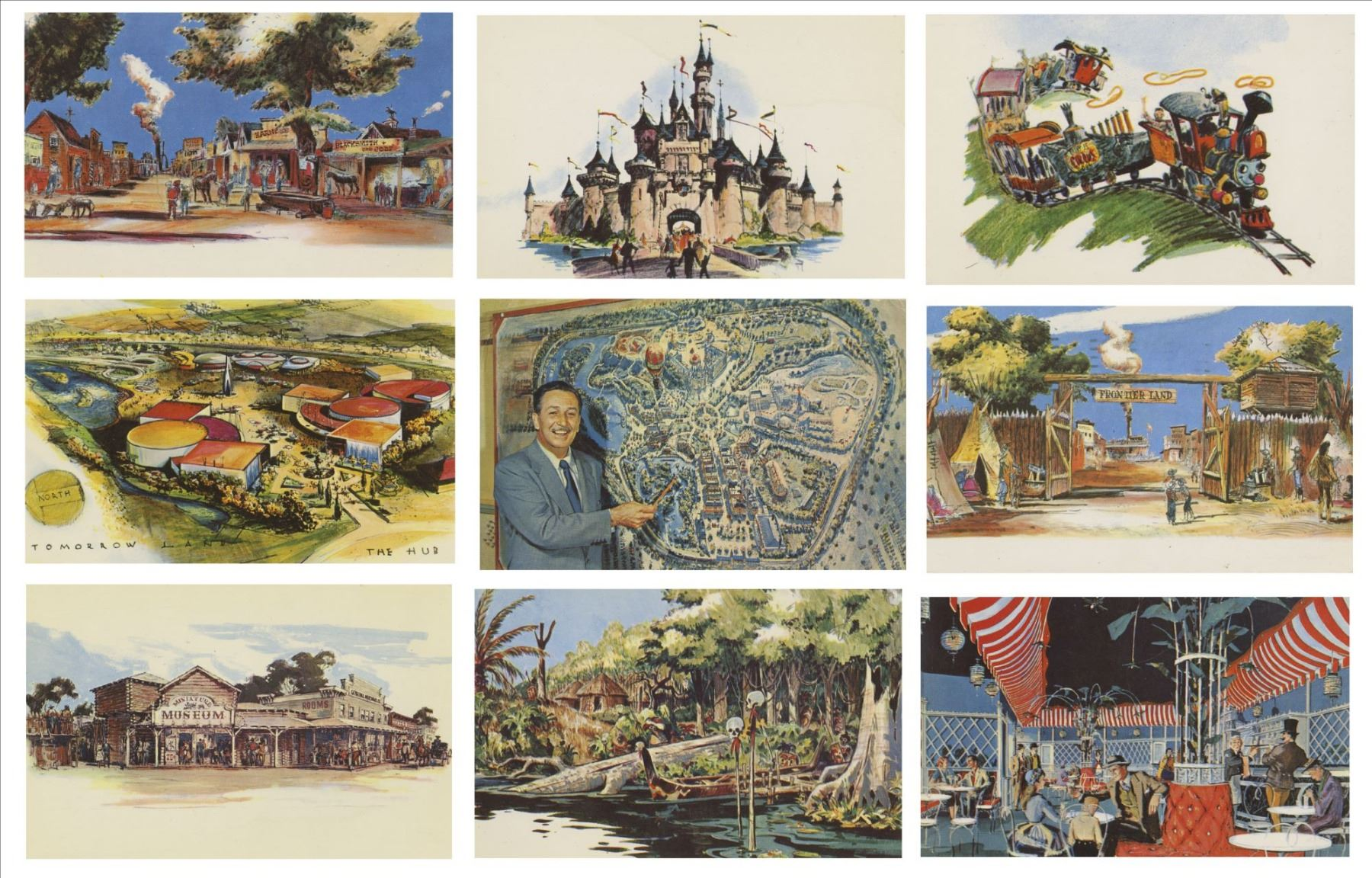 Complete Set of the First 23 Disneyland Postcards