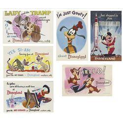 Collection of 16 Disneyland Postcards.