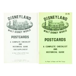 Pair of Disneyland Postcard Collecting Guidebooks.