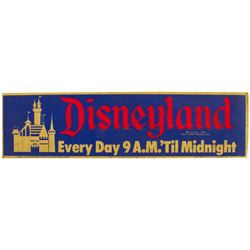 1958 Disneyland Sticker.