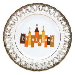 Disneyland Logo Souvenir Ceramic Plate.