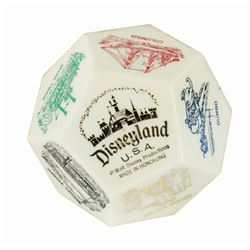Disneyland 12-Sided Paperweight.