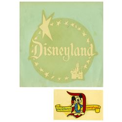 Pair of Vintage Disneyland Decals.