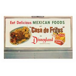 """Casa De Fritos"" Disneyland Postcard."