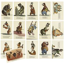 "Collection of (16) ""Country Bear Jamboree"" Postcards."