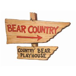 """Bear Country"" & ""Country Bear Playhouse"" Sign."