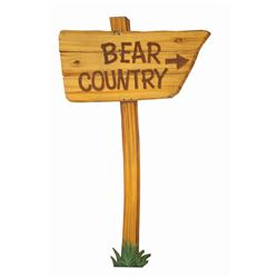 """Bear Country"" Construction Sign."