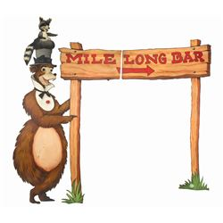 "Henry ""Country Bear"" Mile Long Bar Sign."