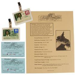 Splash Mountain  ID Badges & Tickets.
