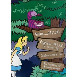 """Alice in Wonderland"" Event Sign."