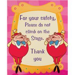 """Alice in Wonderland"" Safety Sign."