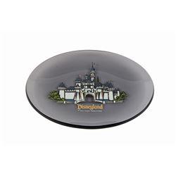 Sleeping Beauty Castle Smoked Glass Tray.