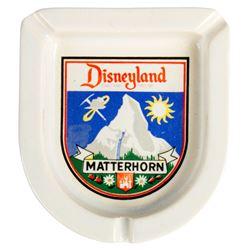 "Souvenir ""Matterhorn Bobsleds"" Ashtray."
