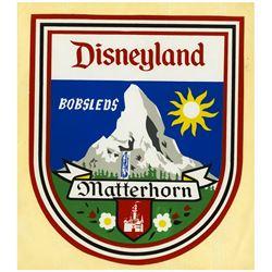 """Matterhorn Bobsleds"" Unused Vehicle Sticker."