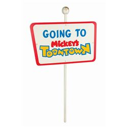 "Disneyland ""Mickey's Toontown"" Directional Sign."