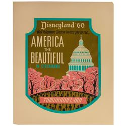 "Disneyland ""America the Beautiful"" Lamppost Shield."