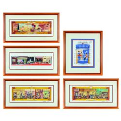 "Collection of (5) ""Carousel of Progress"" Signed Prints."