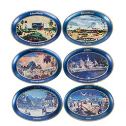 Collection of (6) EPCOT Grand Opening Trays.