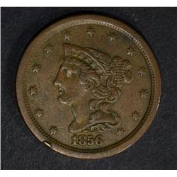 1856 HALF CENT, XF