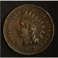 1867 INDIAN HEAD CENT XF