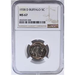 1938-D BUFFALO NICKEL NGC MS67