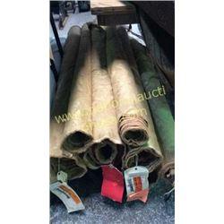 6 rolls 19 + unmeasured yards fabric