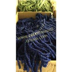 1 box blue fringe unmeasured yards