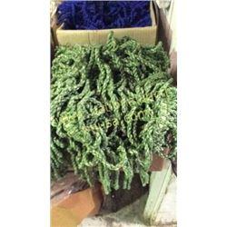 1 box unmeasured yards green fringe