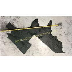 1 piece dark green leather
